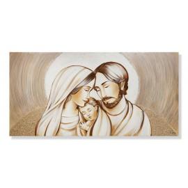 quadro sacra famiglia con ricci in rilievo