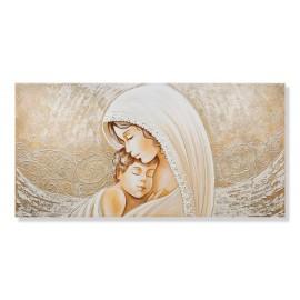 quadro maternità con merletto e ricci in rilievo