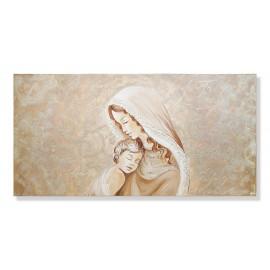 Quadro maternità con merletto rosa stampa decori a mano