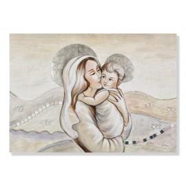 Quadro maternità con colline in avorio