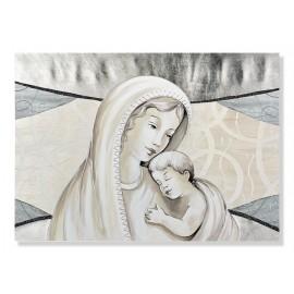 Quadro maternità con lamina in argento in rilievo