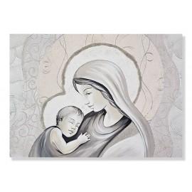 Quadro maternità con lamina in avorio