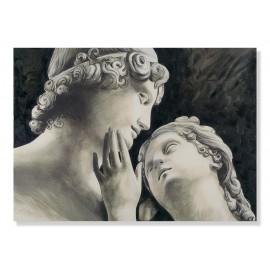 Quadro Adone e Venere stampa decori a mano
