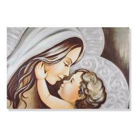 quadro maternità con cuore con dei ricci dentro
