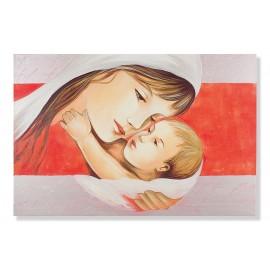 Quadro maternità con linea arancio