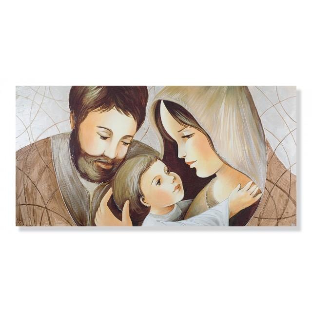 Quadro sacra famiglia su tela