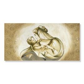 Quadro maternità abbraccio con ricci in rilievo