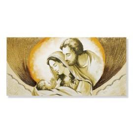 Quadro sacra famiglia nuvola in oro