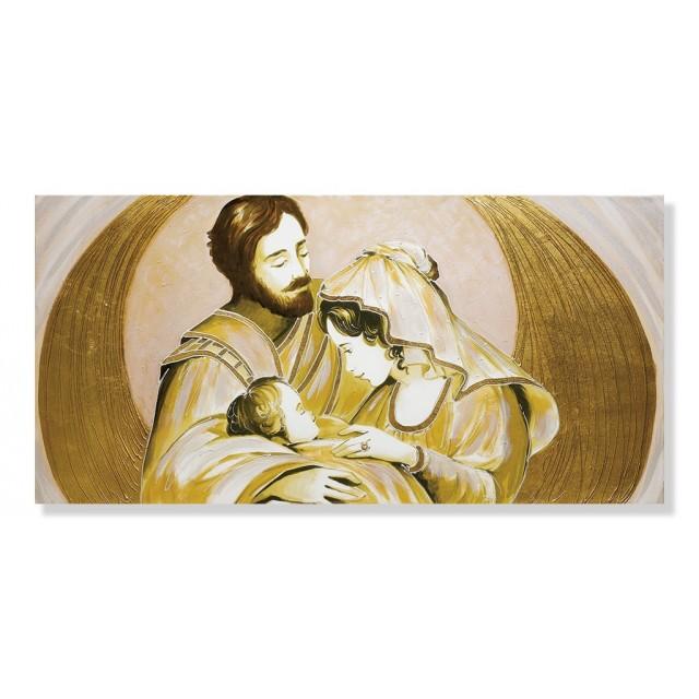 Quadro sacra famiglia parentesi in oro