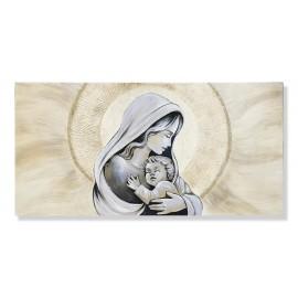 Quadro maternità con aurora avorio stampa decori a mano