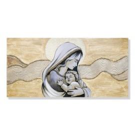 quadro maternità con onde e righe in panna