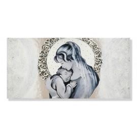 quadro maternità con merletto in argento