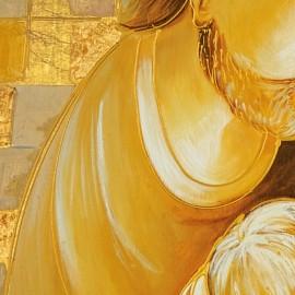 Stampa sacra famiglia con quadri oro stampa