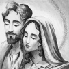 Quadro sacra famiglia argento