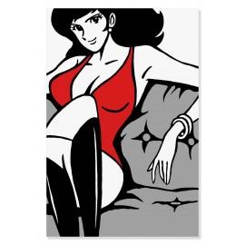 Quadro Fujiko sul divano