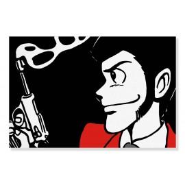 Quadro Lupin con pistola
