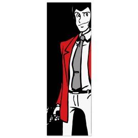 Quadro Lupin con pistola sfondo nero