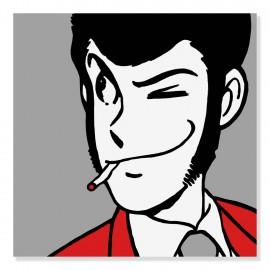 Quadro Lupin cicca in bocca