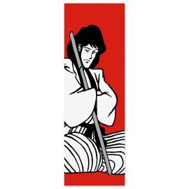 Quadro Goemon con spada bianca