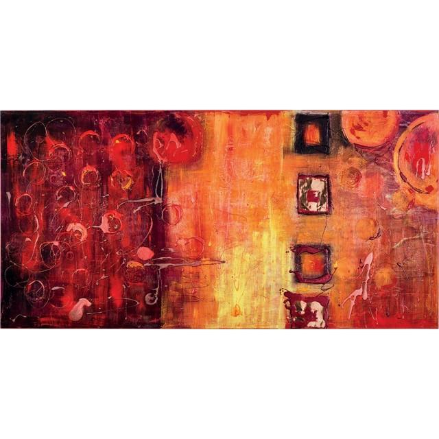 quadro astratto moderno rosso bolle