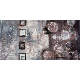 quadro astratto moderno nero a bolle