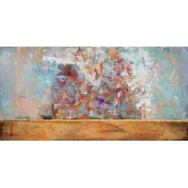 quadro astratto moderno multicolors e oro