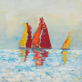 quadro astratto moderno rosso-arancio