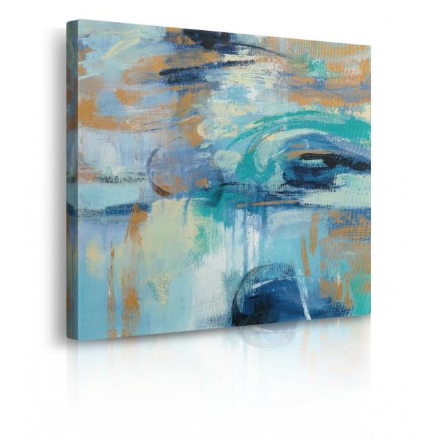 quadro astratto blu prospettiva