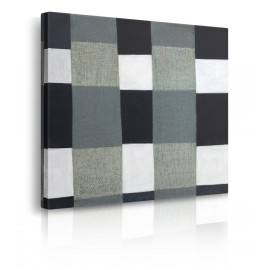 Quadro Astratto Gray Plaid 1