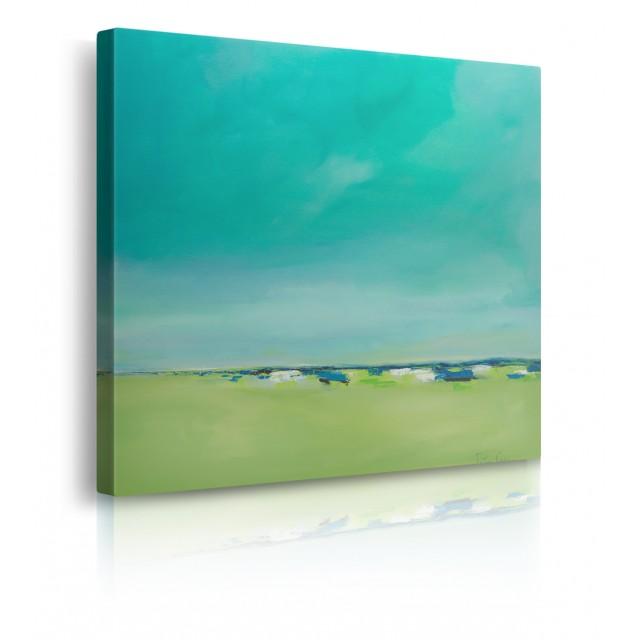 quadro astratto verde prospettiva