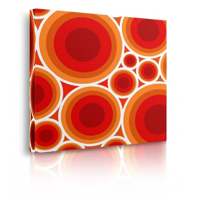 quadro astratto arancione prospettiva