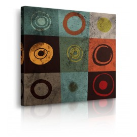 Quadro Astratto Tiles Circles