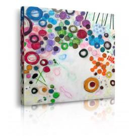 quadro astratto cerchi colori prospettiva