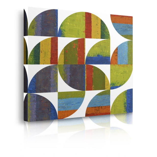 quadro astratto colorato prospettiva