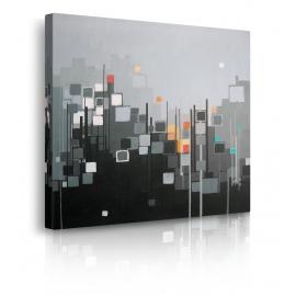 quadro astratto bianco e nero prospettiva