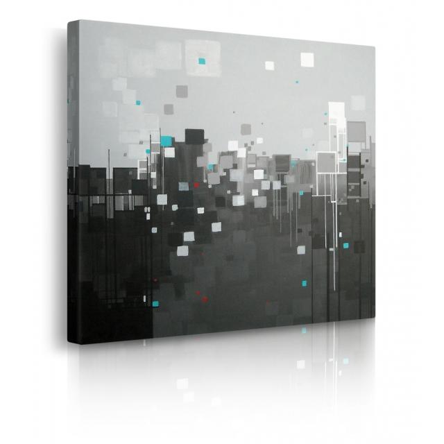 quadro astratto bianco e nero