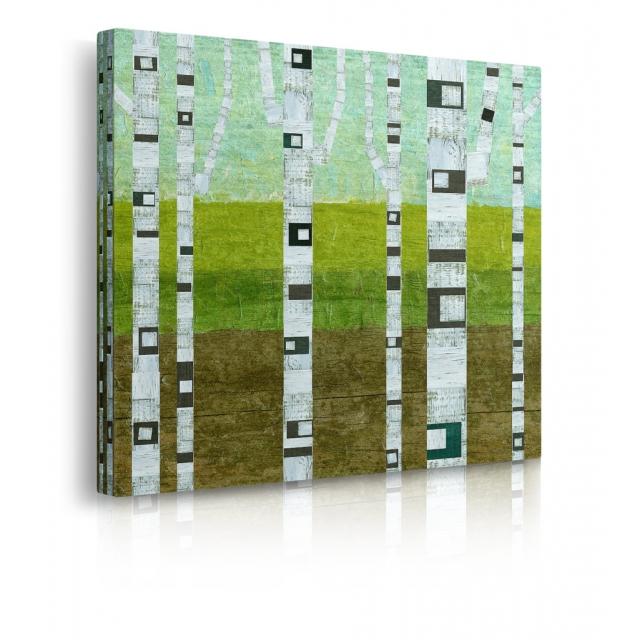 quadro astratto albero estate prospettiva