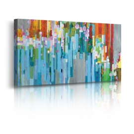 Quadro Astratto Rainbow of Stripes Crop