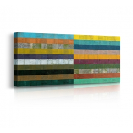Quadro Astratto Wooden Abstract VIII