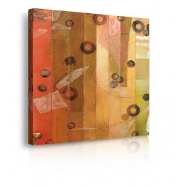 quadro astratto colori caldi prospettiva