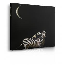 Quadro con zebra e panda prospettiva