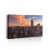 Quadro new york tramonto prospettiva