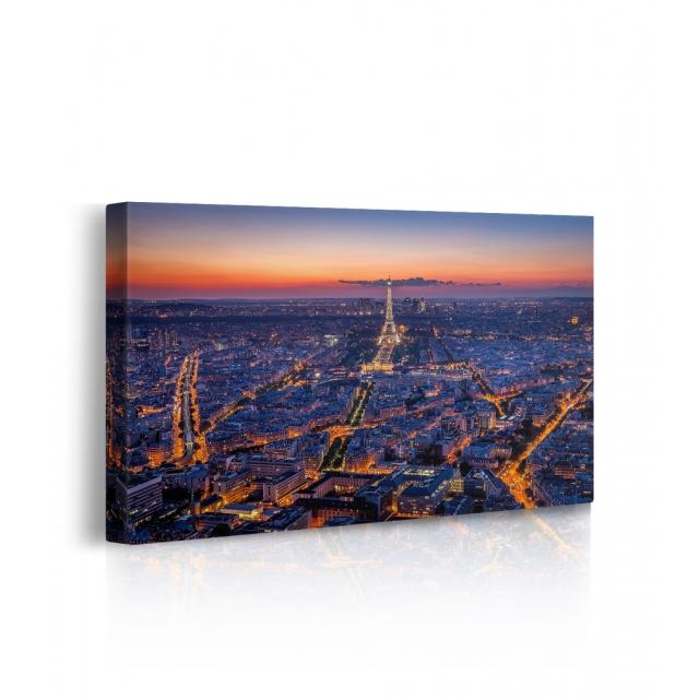 Quadro parigi di notte prospettiva