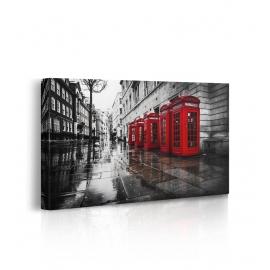 Quadro cabina telefonica Londra prospettiva
