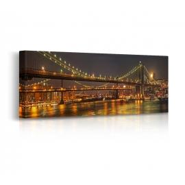 Quadro Bridge di notte prospettiva