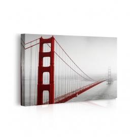 Quadro ponte nella nebbia prospettiva
