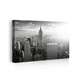 Quadro new york bianco e nero prospettiva