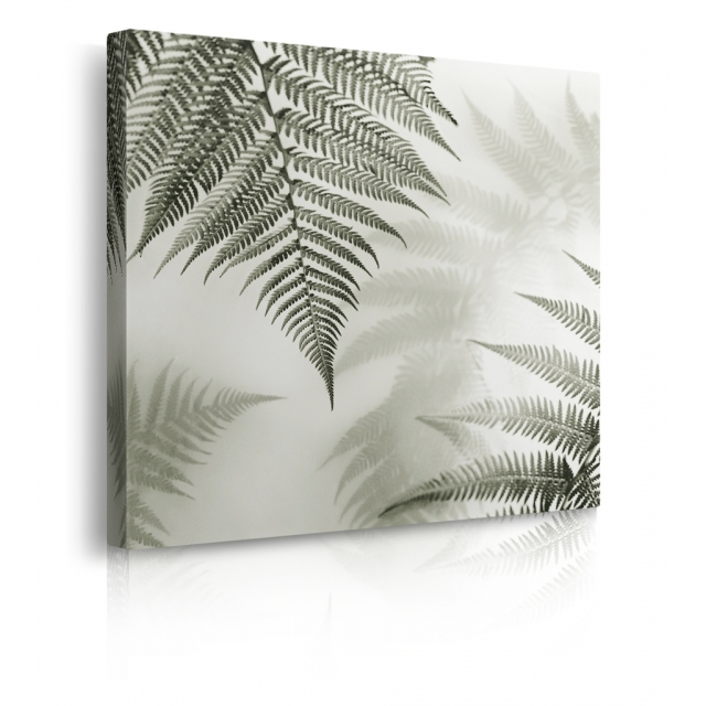 quadro foglie ambientazione