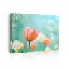Quadro tulipani rosa prospettiva