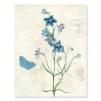 quadro fiori azzurri
